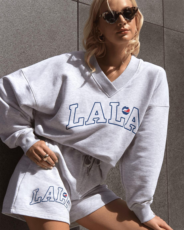LALA League V-Neck Light Grey Kansas Sweatshirt