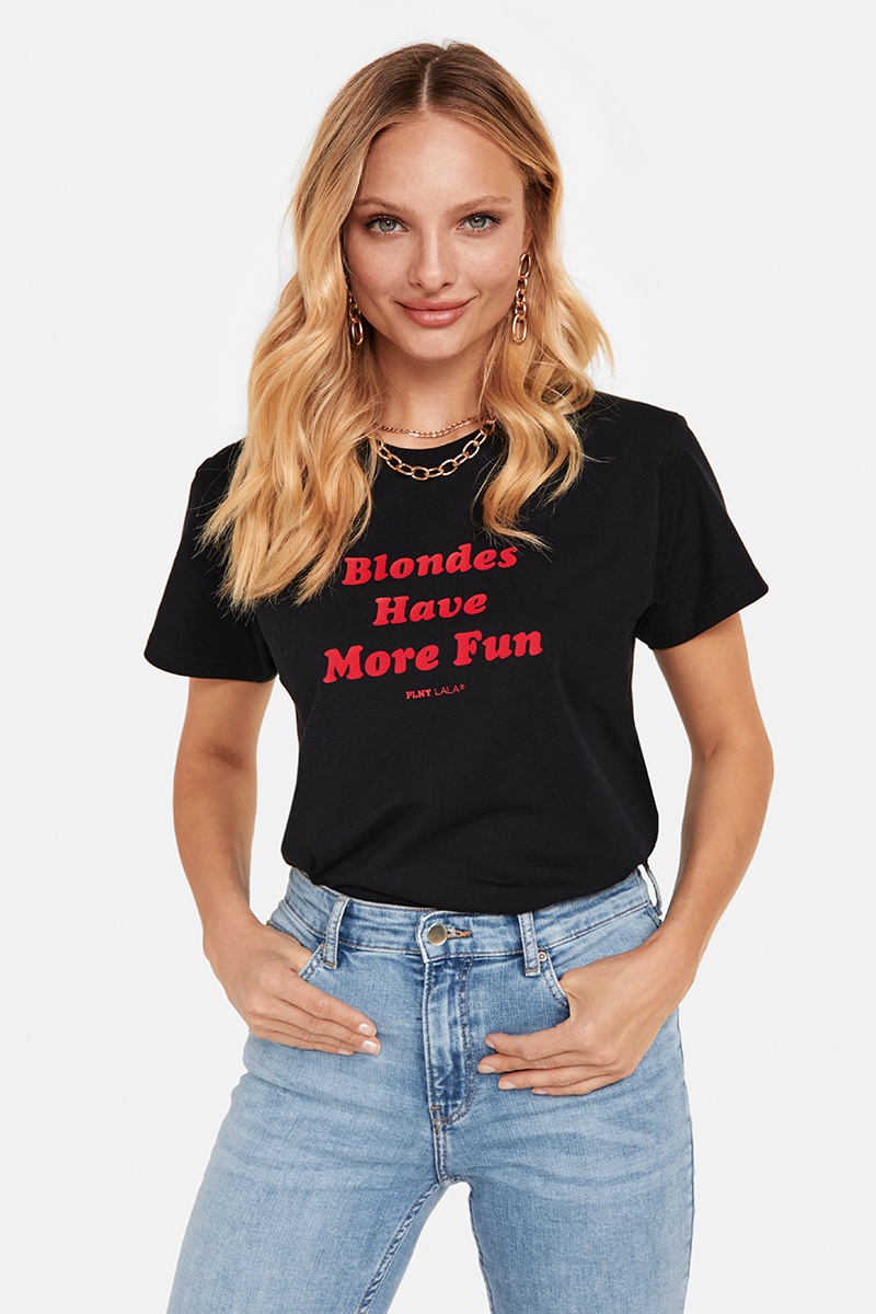 Blondes Classic Black Tee