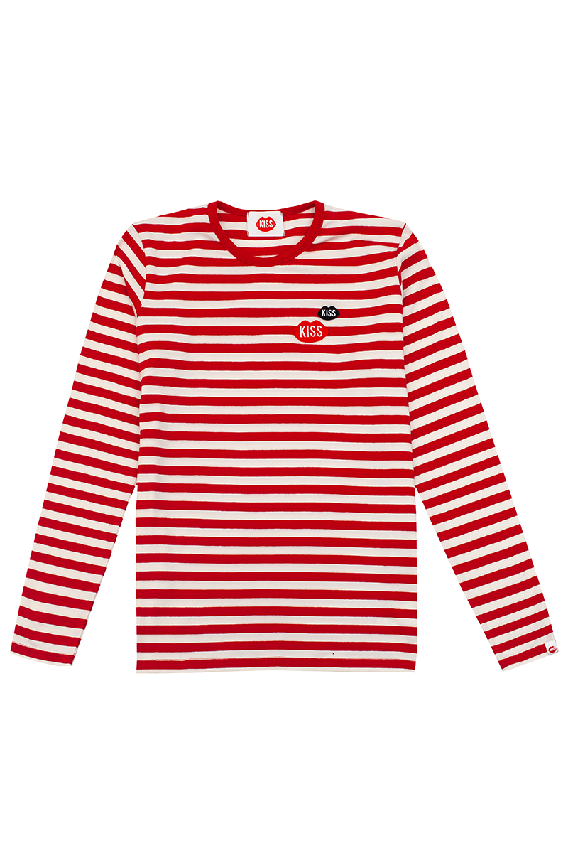 KISS KISS French Fit Red Stripes Longsleeve