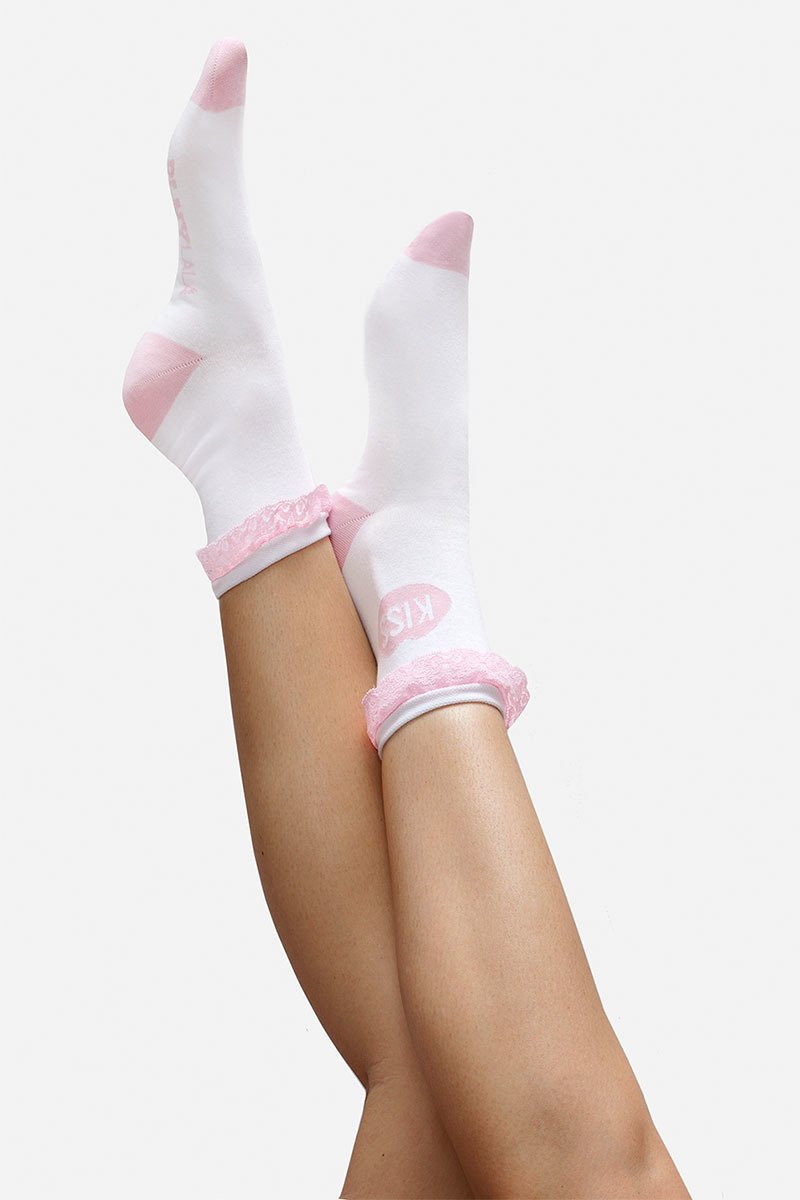 KISS Lace Rose Socks