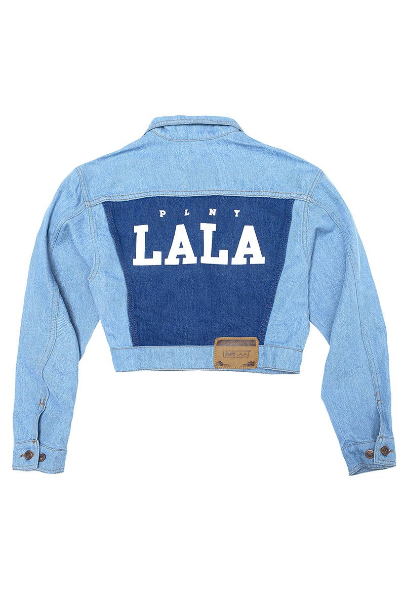 LALA Cropped Blue Denim Jacket