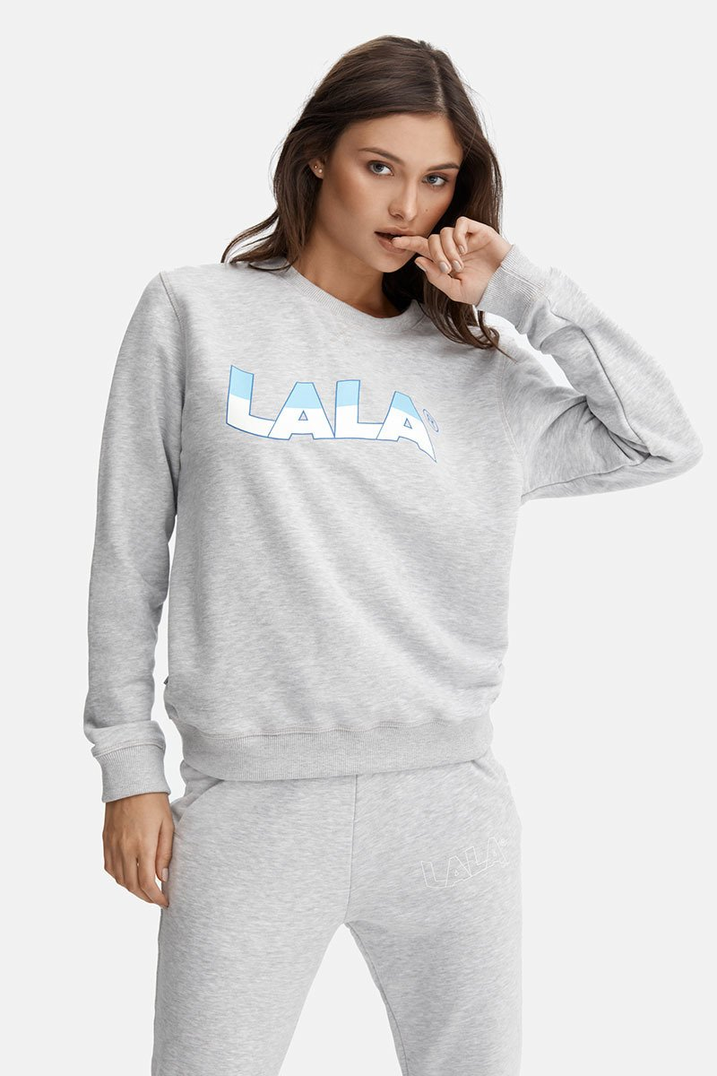 LALA Flow Regular Grey Sweatshirt
