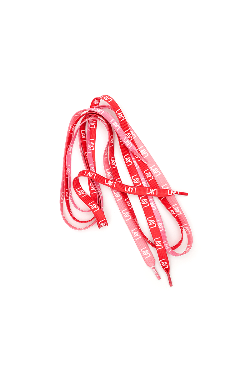 LALA Monogram Pink/Red Laces