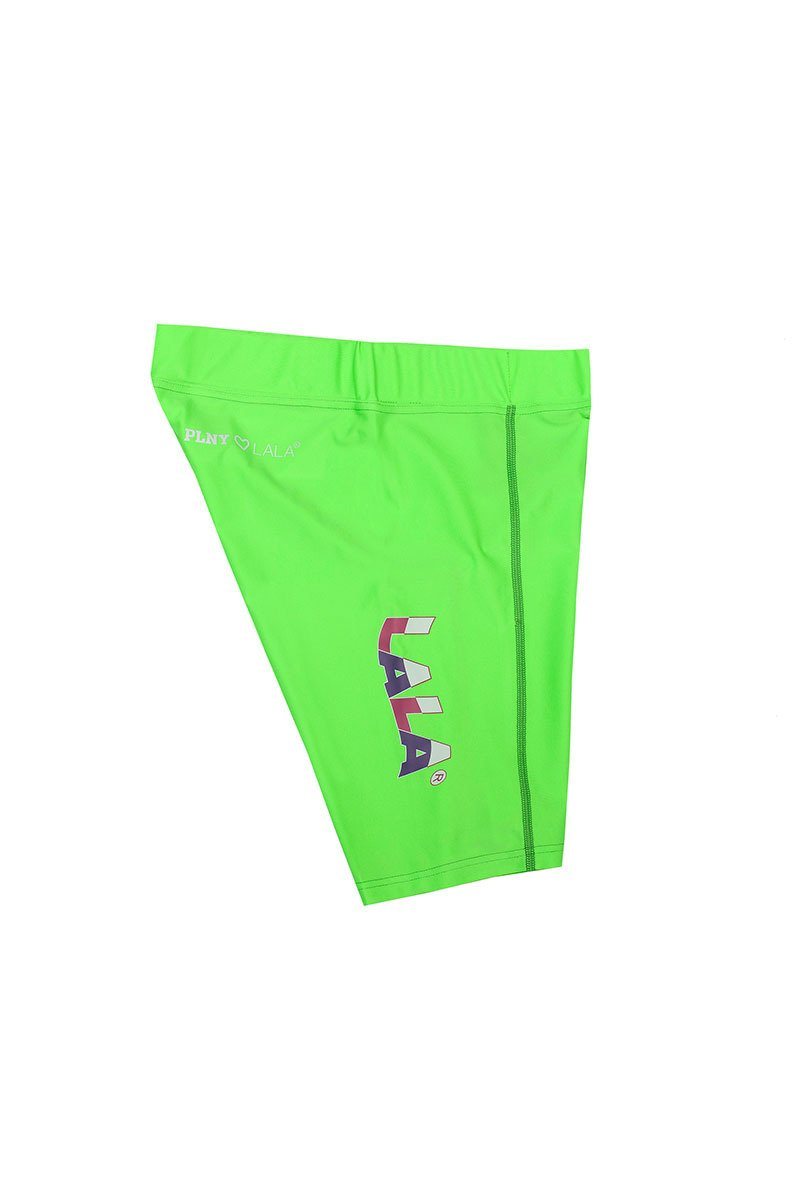 LALA New Wave Green Bike Shorts