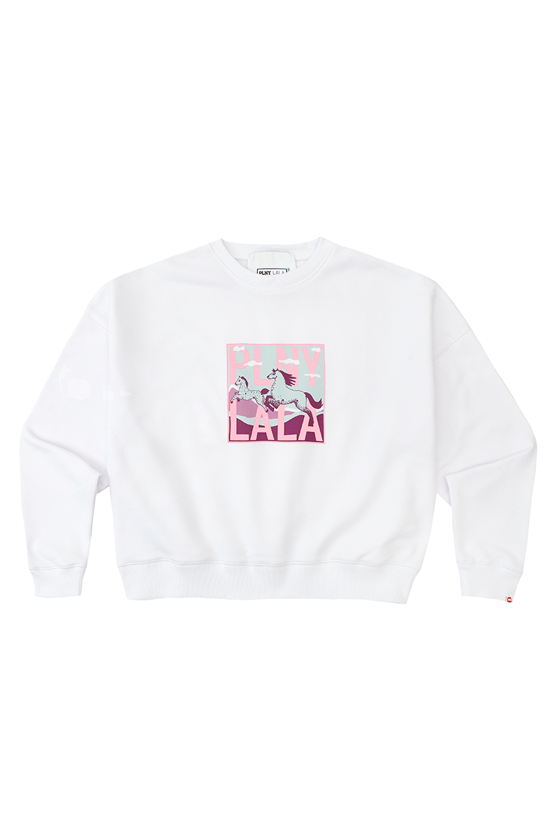 Lucky LALA Kansas White Sweatshirt