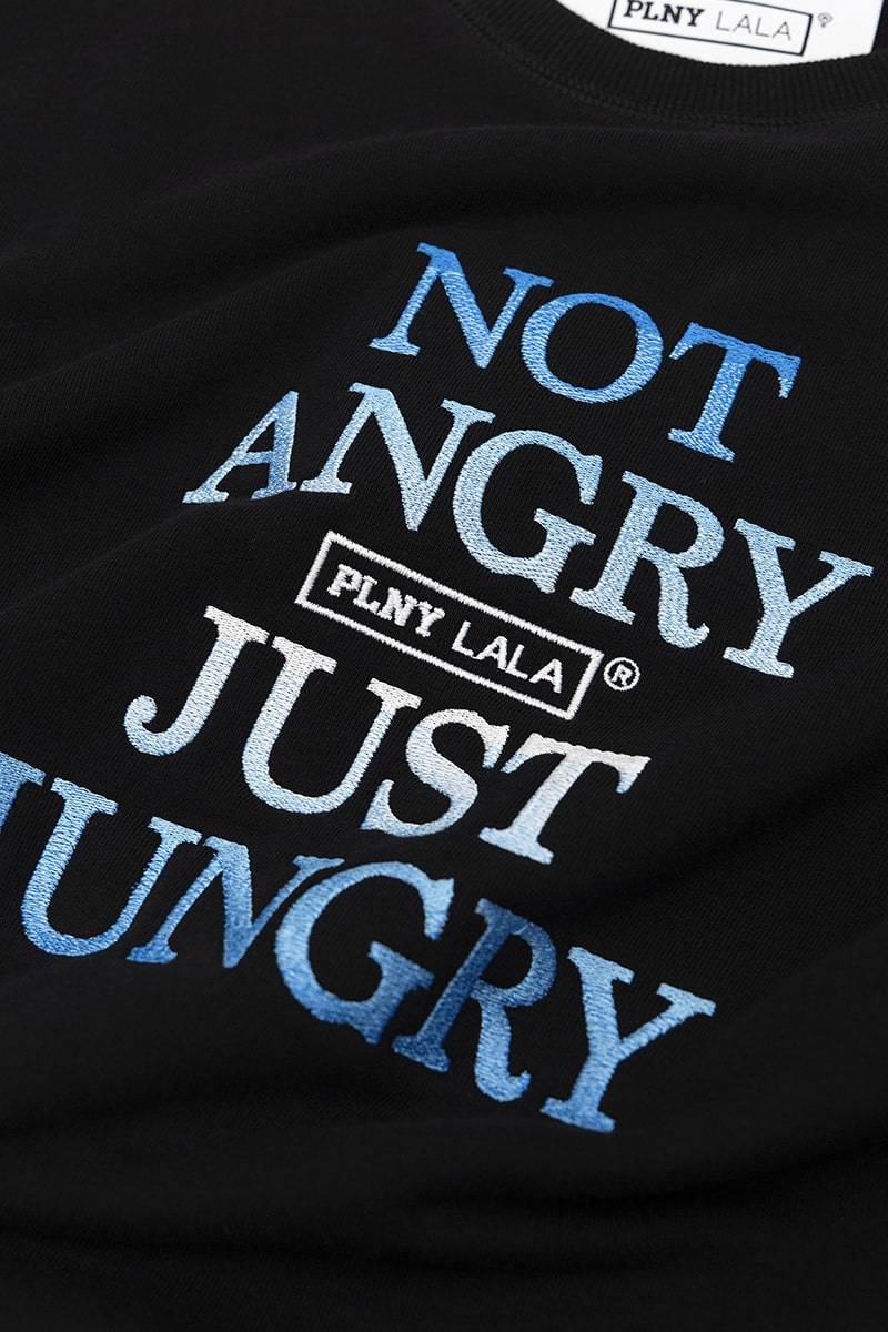 Not Angry Just Hungry Regular Black Sweatshirt