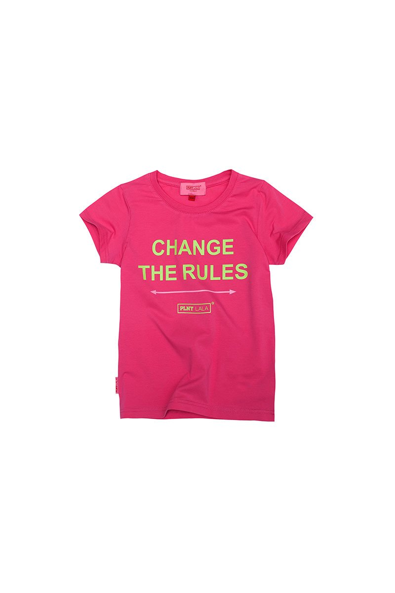PLNY KIDS Change The Rules Classic Very Pink Tee