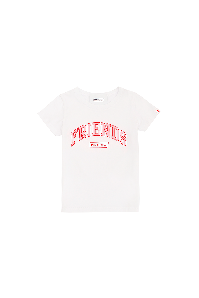 PLNY KIDS Friends Classic White Tee