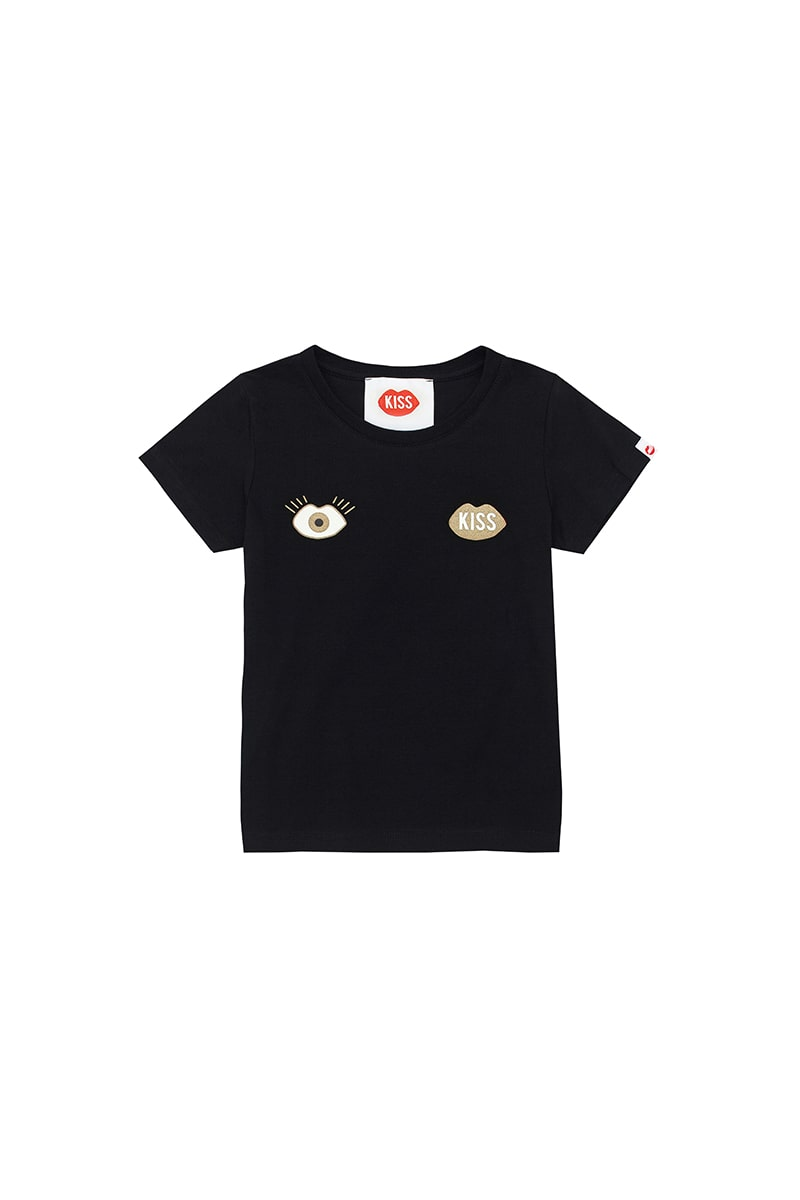 PLNY KIDS Look and KISS Black Tee