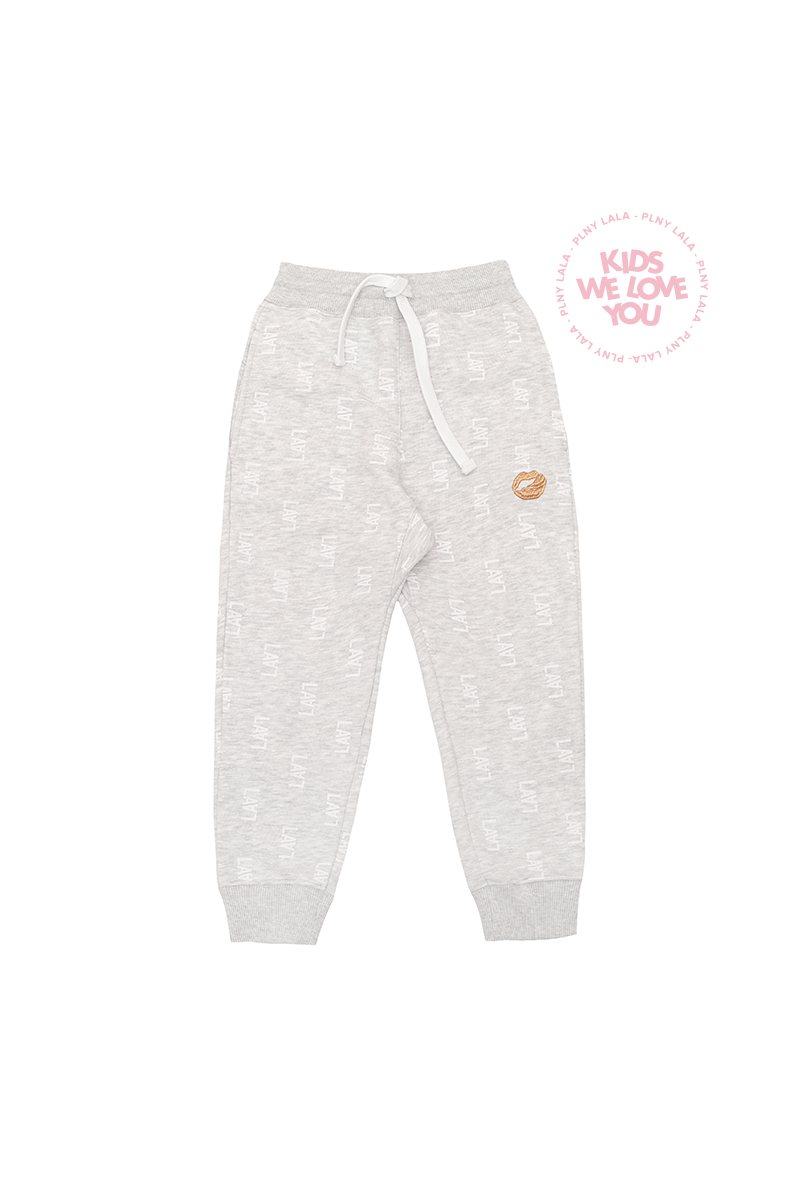 PLNY KIDS Monogram Grey Pants