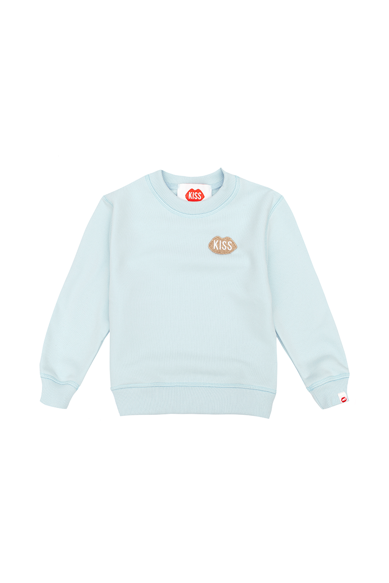 PLNY KIDS Petite KISS Steam Blue Sweatshirt