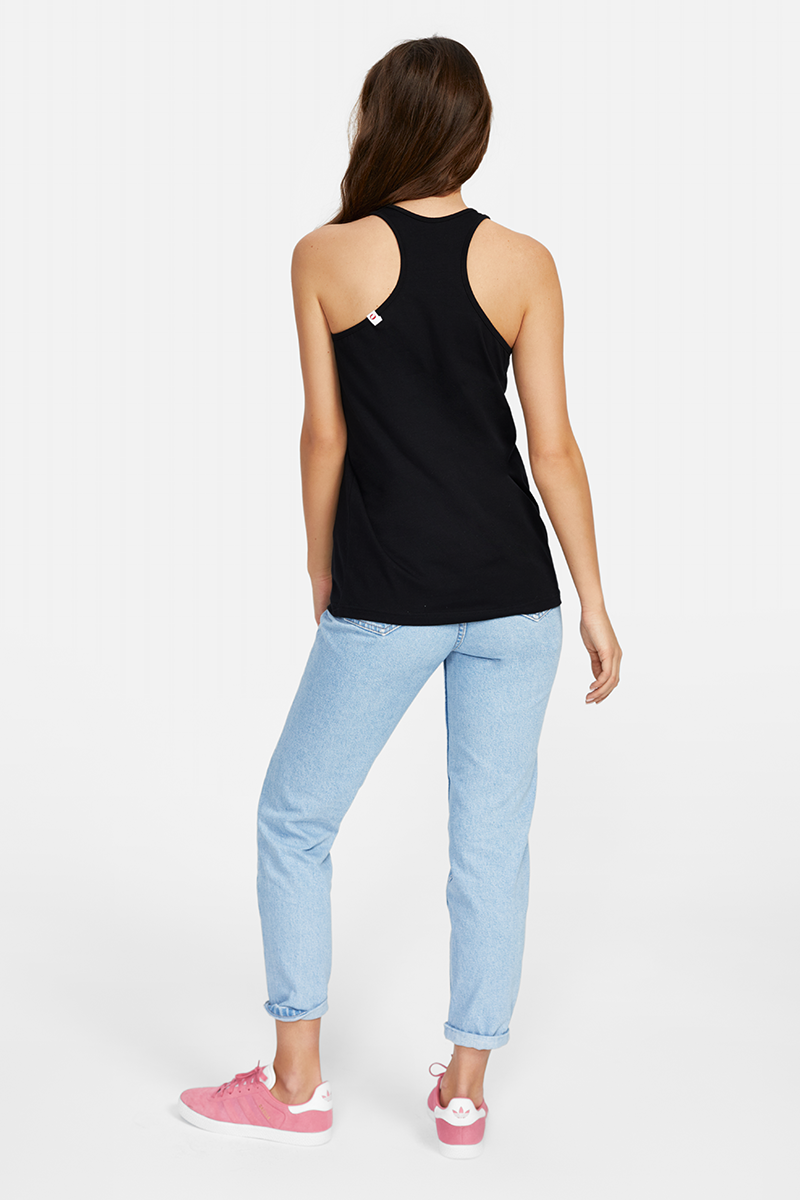PLNY LALA Coast Black Tank Top
