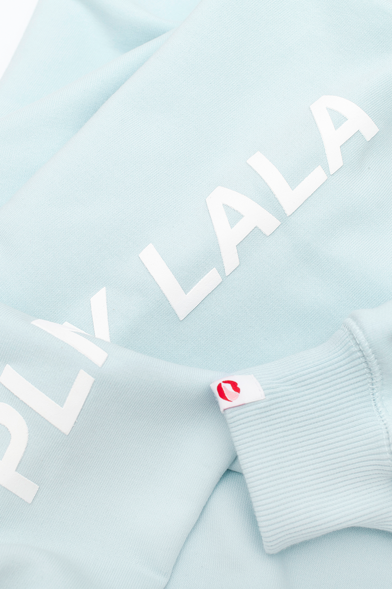 PLNY LALA Flora Steam Blue Sweatshirt