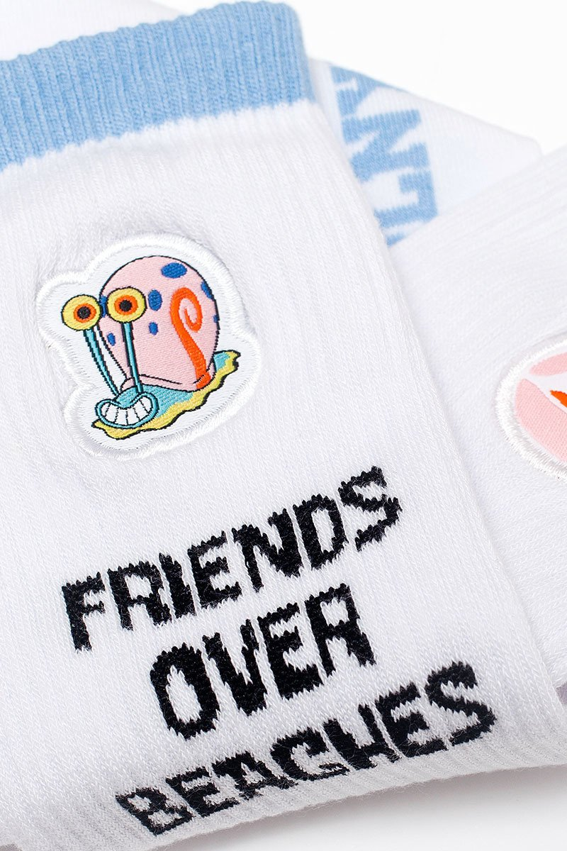 PLNY LALA x Spongebob Friends Over Beaches White Socks