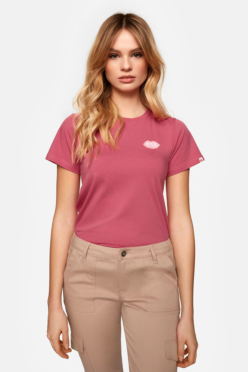 Petite KISS French Fit Cherry Tee