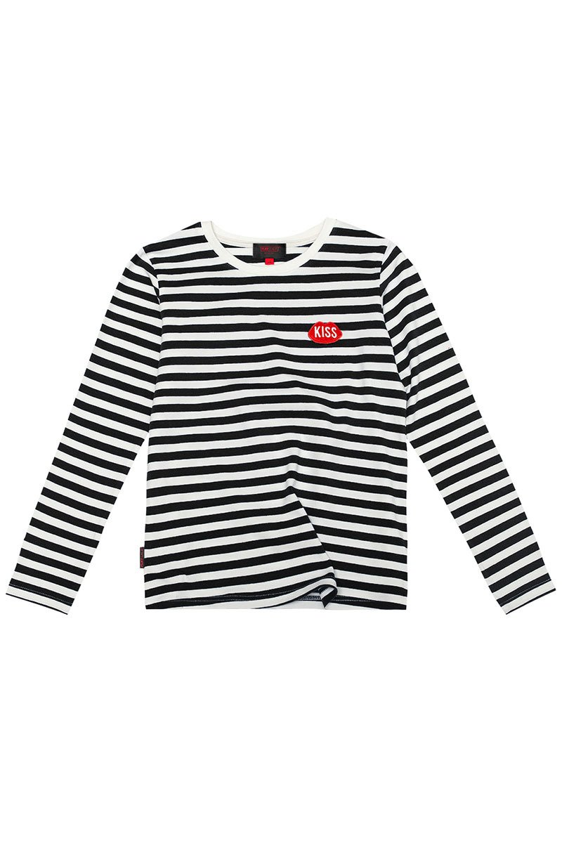 Petite KISS French Fit Stripes Longsleeve