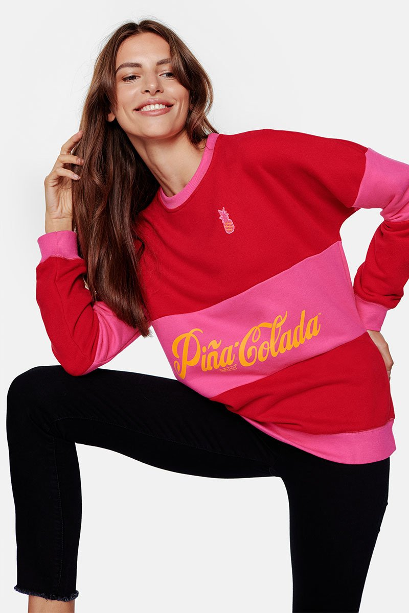 Pina Colada Red Lips Layer Chilli Red Sweatshirt