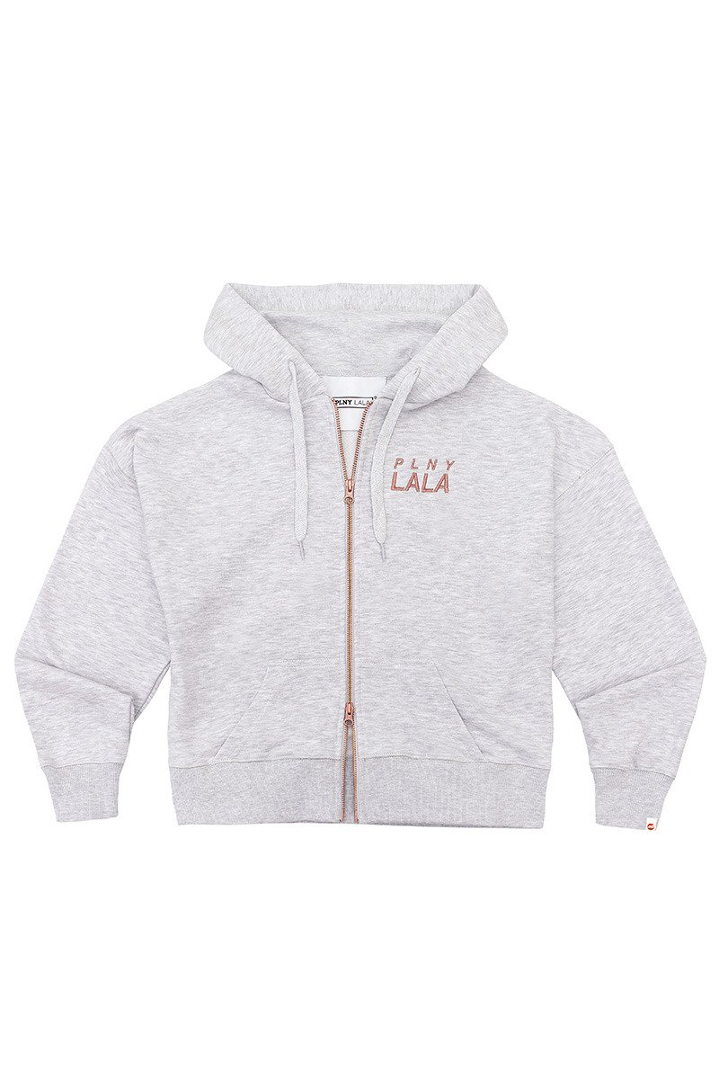 Prima Miss Zip Light Grey Hoodie