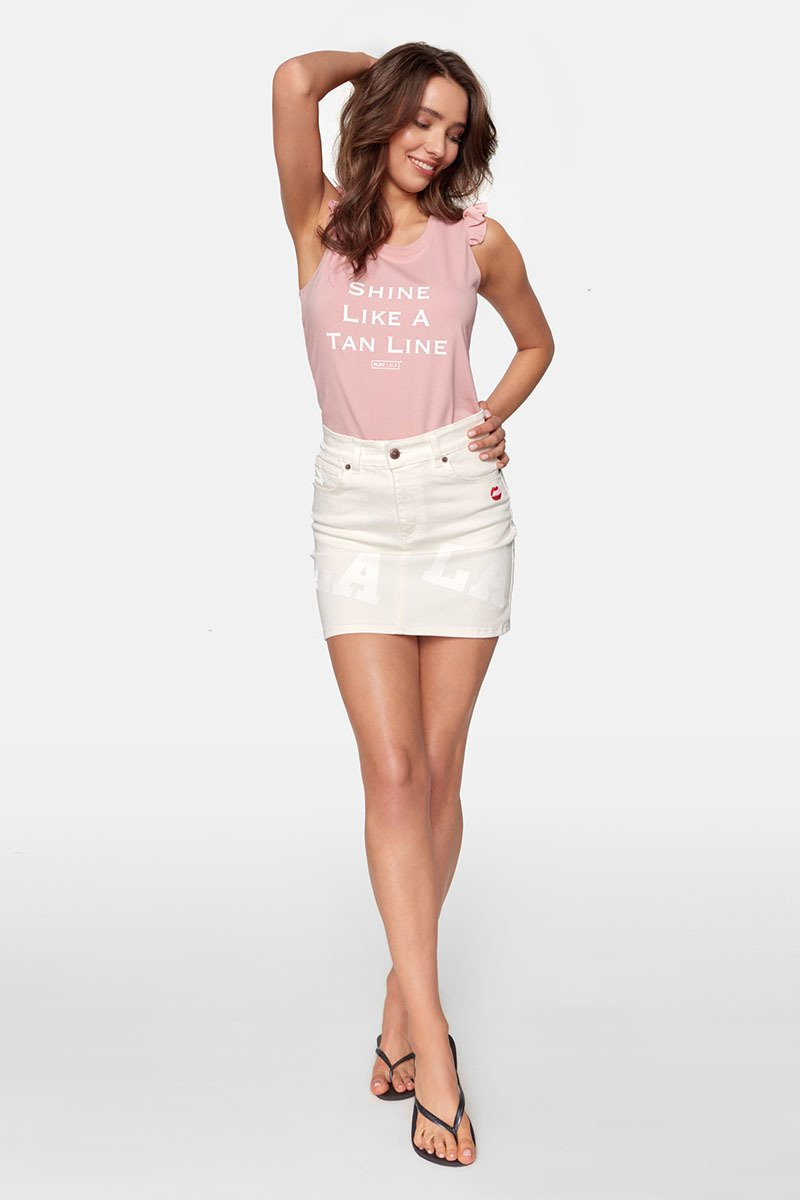 Shine Like A Tan Line Butterfly Rose Tee