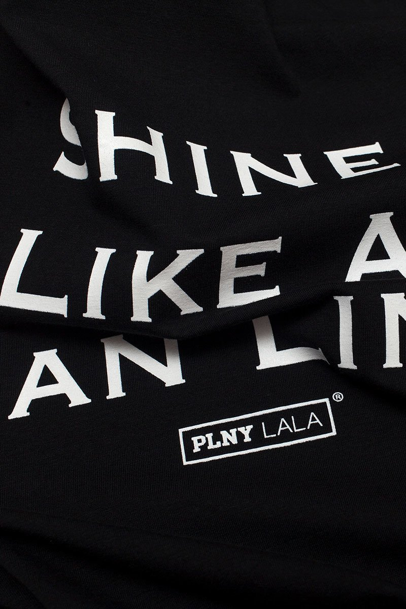Shine Like A Tan Line Classic Black Tee