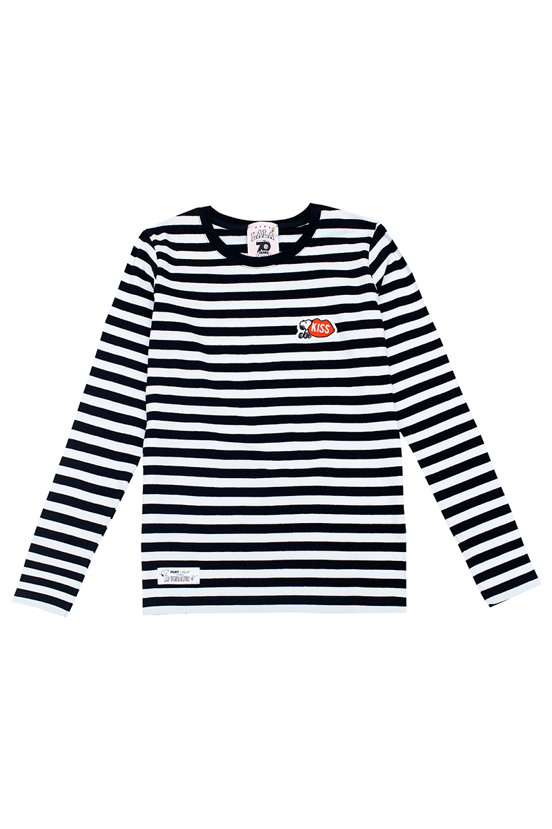 Snoopy KISS Stripes French Fit Longsleeve