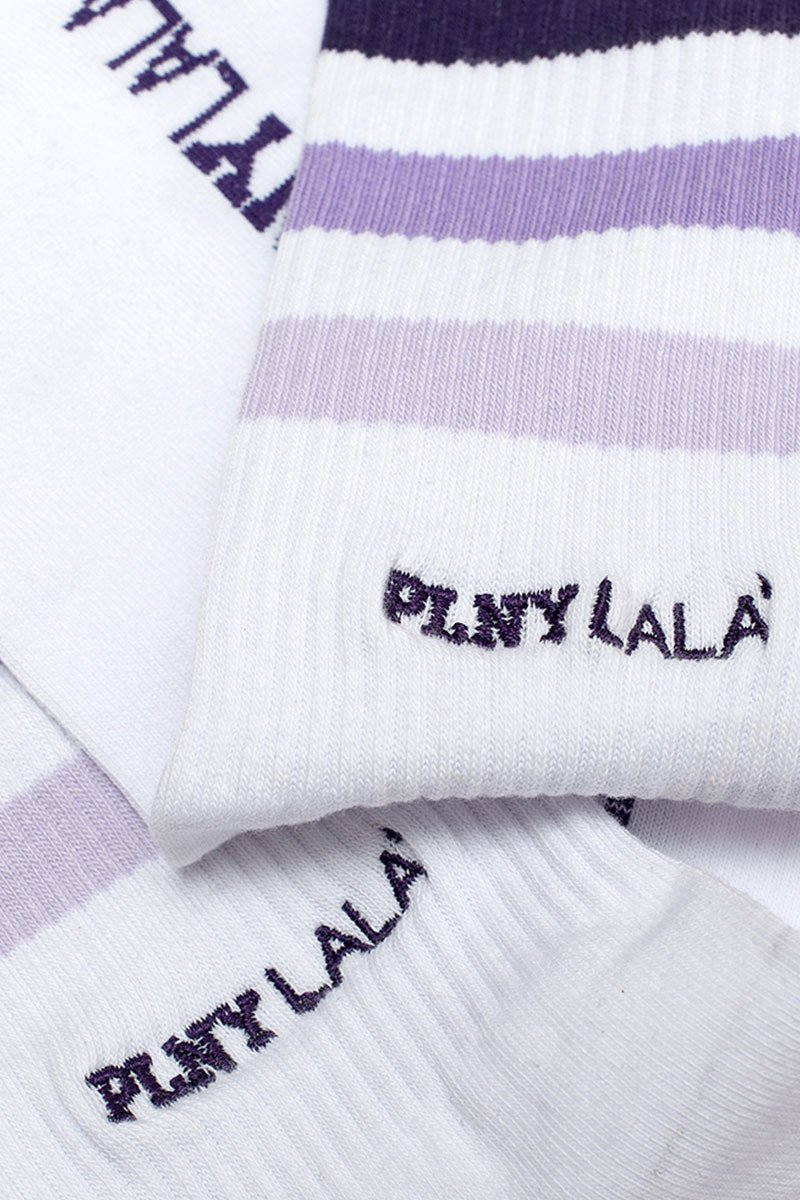 Striped Classic Violet Socks