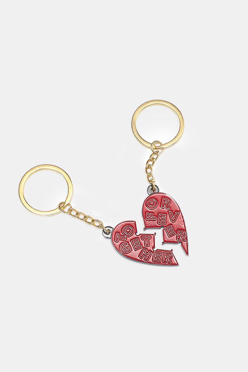 Together Forever Red Keychain